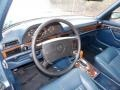 1986 S Class Blue Interior