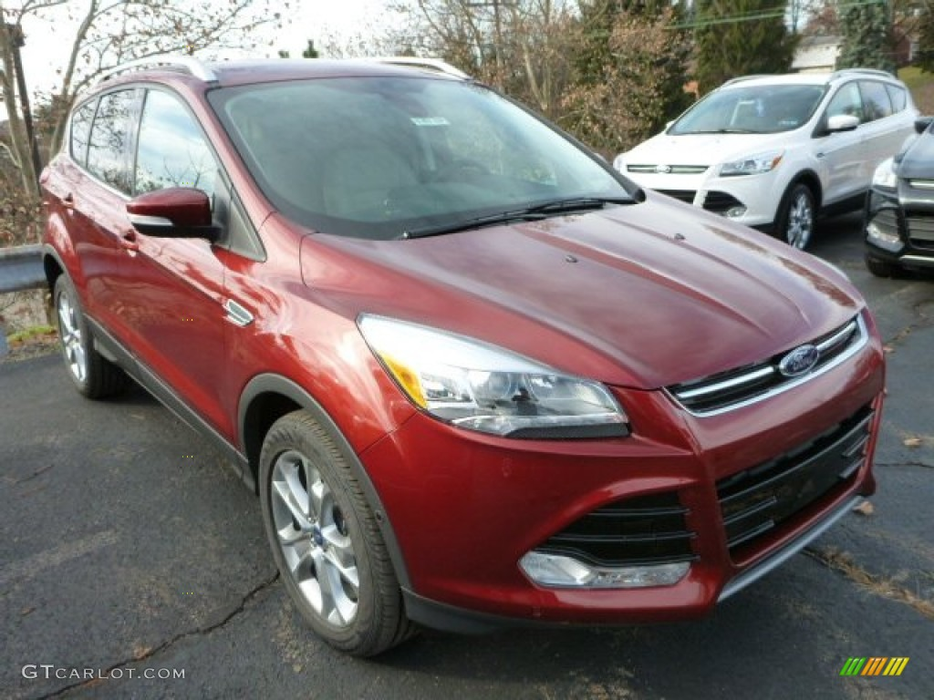 2014 Escape Titanium 2.0L EcoBoost 4WD - Sunset / Medium Light Stone photo #1
