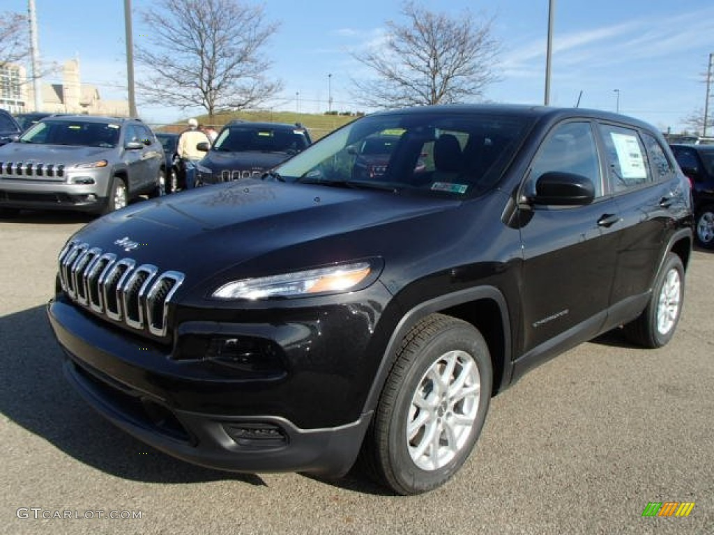 Brilliant Black Crystal Pearl 2014 Jeep Cherokee Sport ...