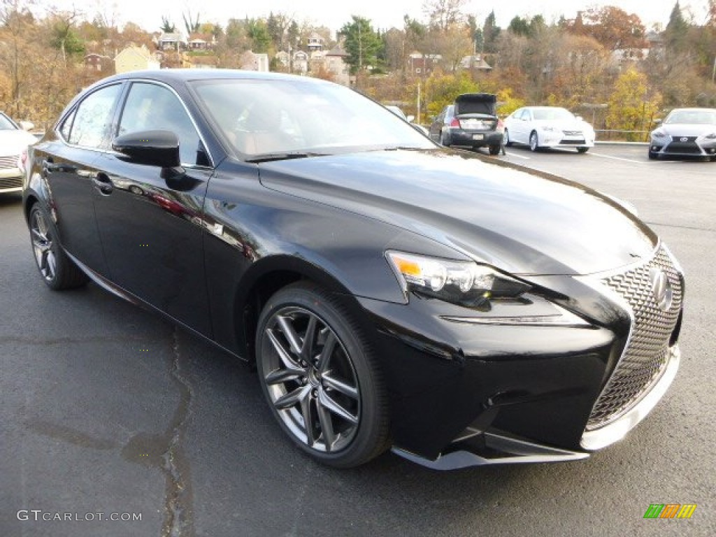 obsidian black 2014 lexus is 250 f sport awd exterior. Black Bedroom Furniture Sets. Home Design Ideas