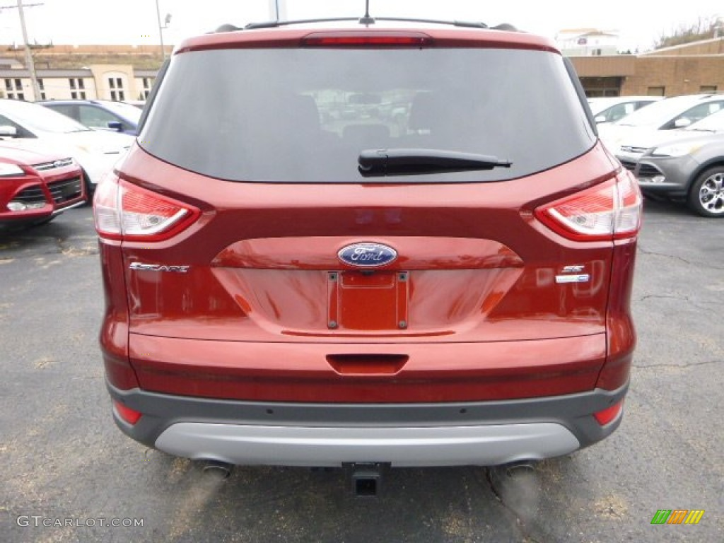 2014 Escape SE 2.0L EcoBoost 4WD - Sunset / Charcoal Black photo #3