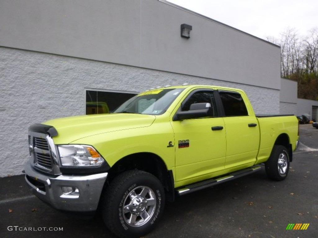2011 national fire safety lime yellow dodge ram 2500 hd big horn crew cab 4x4 88059581 photo. Black Bedroom Furniture Sets. Home Design Ideas