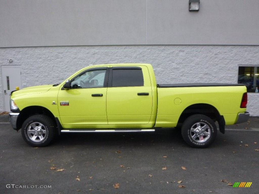 2011 national fire safety lime yellow dodge ram 2500 hd big horn crew cab 4x4 88059581 photo 2. Black Bedroom Furniture Sets. Home Design Ideas