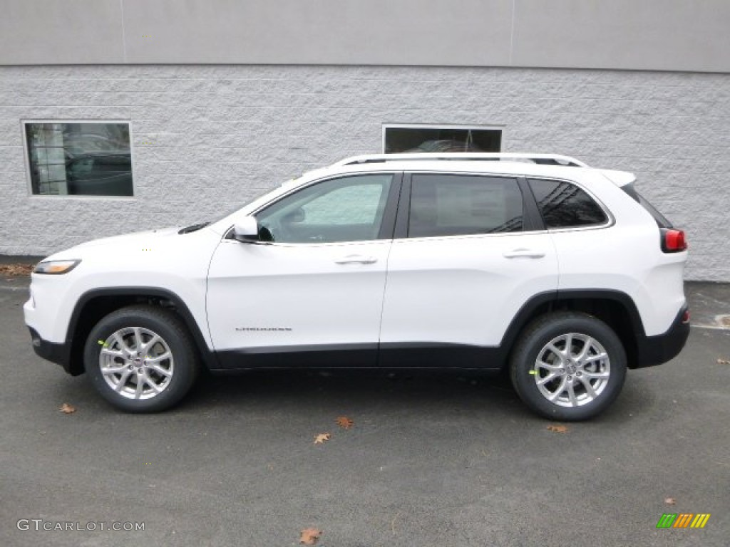 Bright White 2014 Jeep Cherokee Latitude Exterior Photo