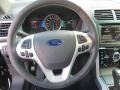 2014 Ford Explorer Sport Charcoal Black Interior Steering Wheel Photo