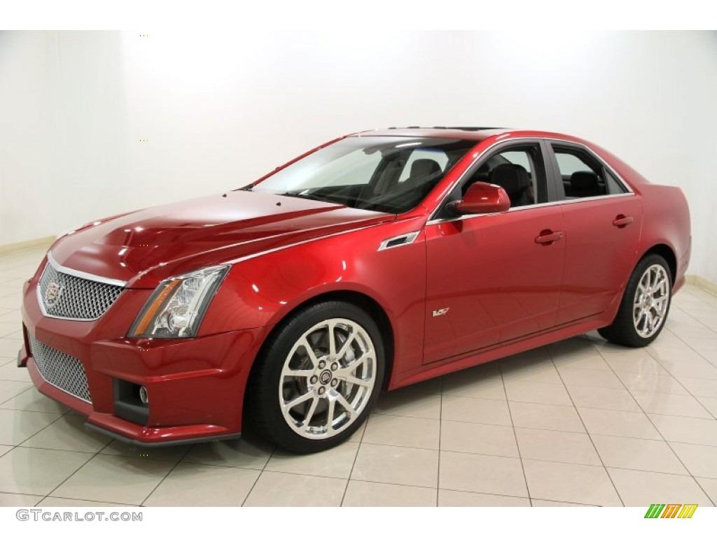 2012 crystal red tintcoat cadillac cts v sedan 88104552 photo 4 car color. Black Bedroom Furniture Sets. Home Design Ideas