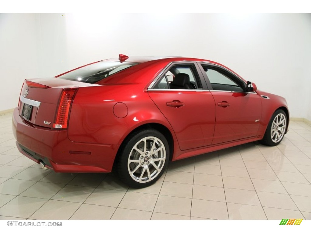 2012 Crystal Red Tintcoat Cadillac Cts V Sedan 88104552