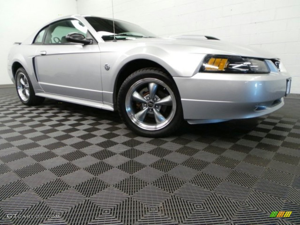 2004 Mustang GT Coupe - Silver Metallic / Dark Charcoal photo #1