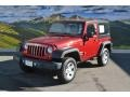 2012 Flame Red Jeep Wrangler Sport 4x4  photo #5