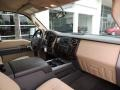 2012 Autumn Red Metallic Ford F250 Super Duty Lariat Crew Cab 4x4  photo #7