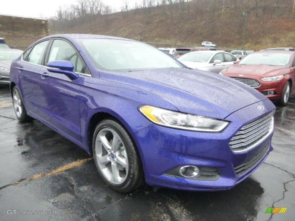 2014 Deep Impact Blue Ford Fusion Se 88192518 Gtcarlot