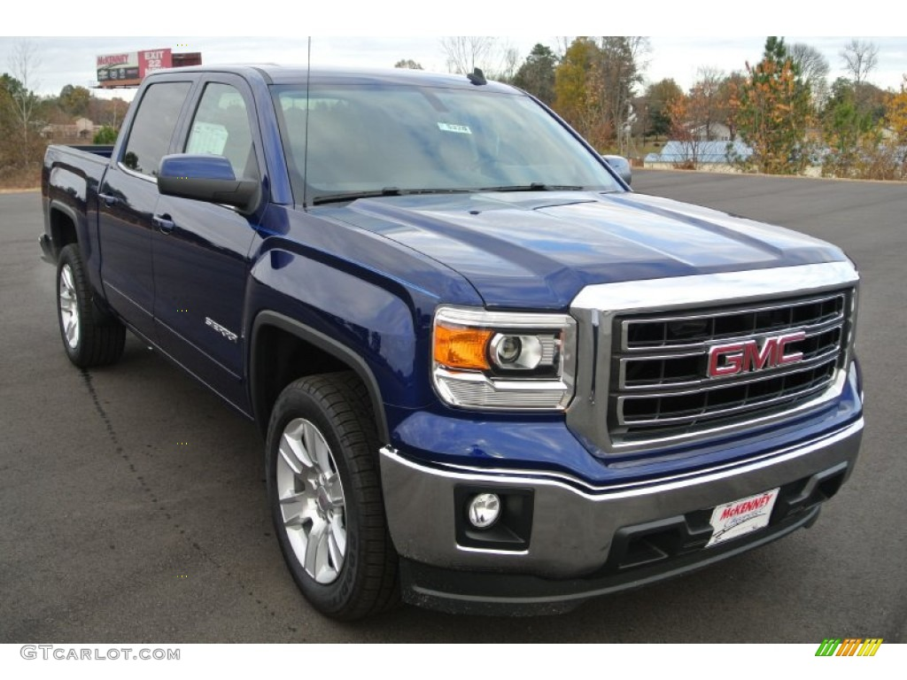 2014 cobalt blue metallic gmc sierra 1500 sle crew cab 88192725 car color. Black Bedroom Furniture Sets. Home Design Ideas