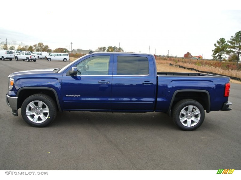cobalt blue metallic 2014 gmc sierra 1500 sle crew cab exterior photo 88226284. Black Bedroom Furniture Sets. Home Design Ideas