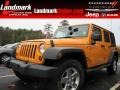 2012 Dozer Yellow Jeep Wrangler Unlimited Sport S 4x4 #88234344