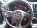 2014 Subaru Impreza STI Black Alcantara/ Carbon Black Leather Interior Steering Wheel Photo