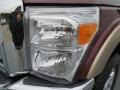 2012 Autumn Red Metallic Ford F250 Super Duty Lariat Crew Cab 4x4  photo #9