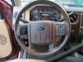 2012 Autumn Red Metallic Ford F250 Super Duty Lariat Crew Cab 4x4  photo #43