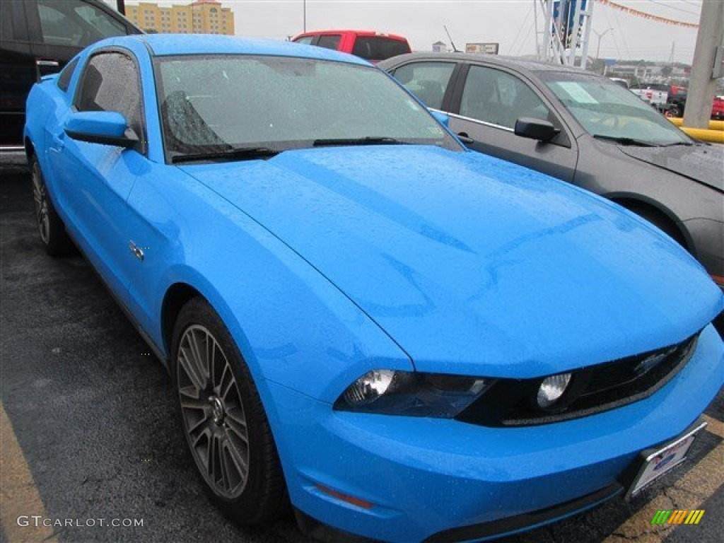 2011 Mustang GT Coupe - Grabber Blue / Charcoal Black photo #1