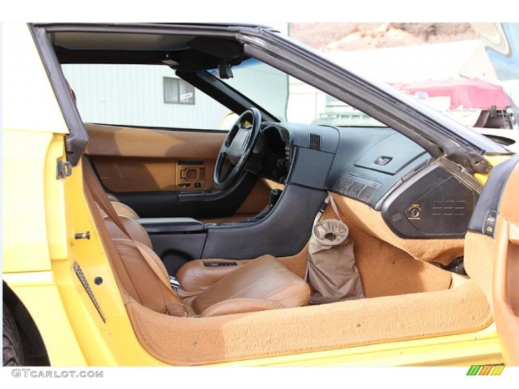 Saddle Interior 1991 Chevrolet Corvette Coupe Photo