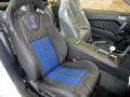 2014 Ford Mustang Shelby Charcoal Black/Blue Accents Recaro Sport Seats Interior Front Seat Photo