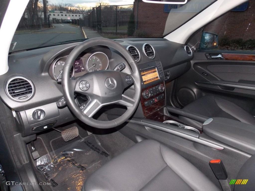 Black Interior 2011 Mercedes Benz Ml 550 4matic Photo 88350827