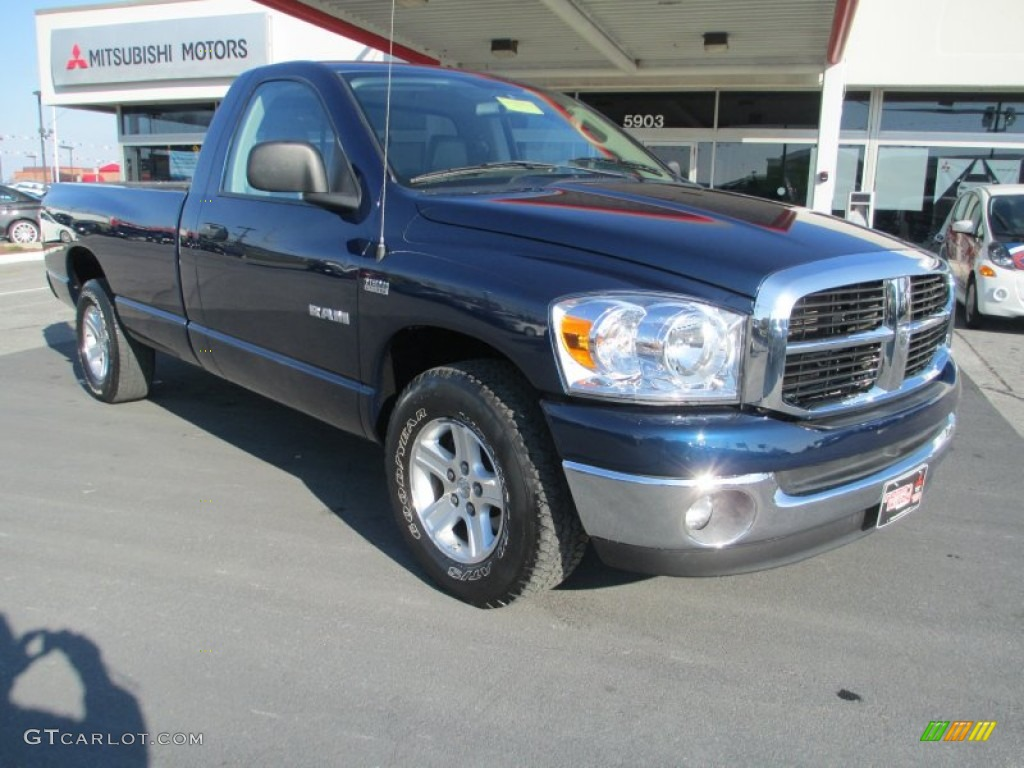 2008 Ram 1500 SLT Regular Cab - Patriot Blue Pearl / Medium Slate Gray photo #1
