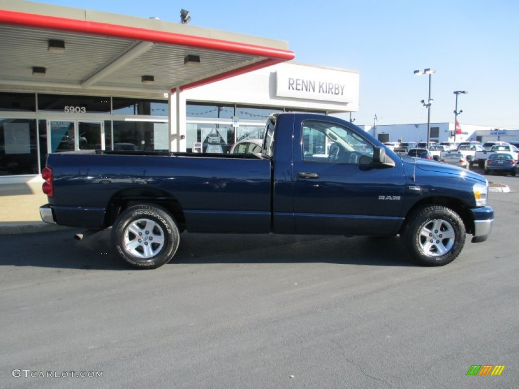 2008 Ram 1500 SLT Regular Cab - Patriot Blue Pearl / Medium Slate Gray photo #8
