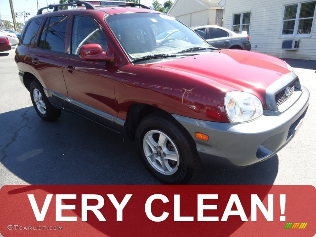 2004 Santa Fe  - Merlot Red / Beige photo #1