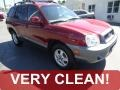 2004 Merlot Red Hyundai Santa Fe   photo #1