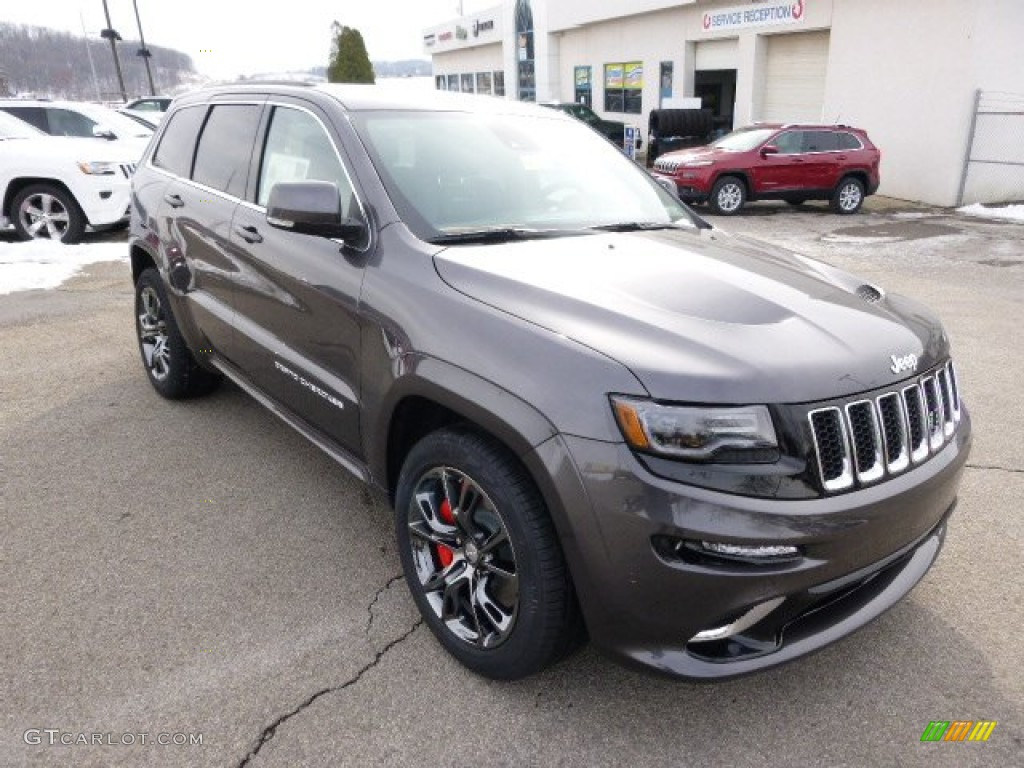 Jeep Cherokee White And Black >> 2014 Granite Crystal Metallic Jeep Grand Cherokee SRT 4x4 #88376193 Photo #4 | GTCarLot.com ...