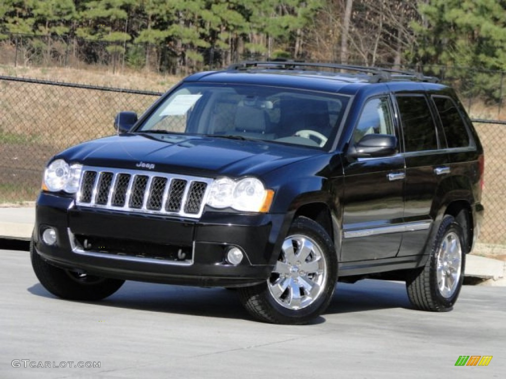 2008 black jeep grand cherokee overland 4x4 88376270. Black Bedroom Furniture Sets. Home Design Ideas