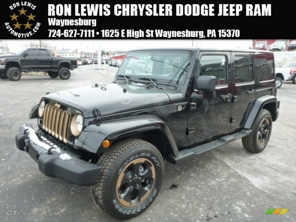 2014 Dragon Edition Black/Gold Jeep Wrangler Unlimited ...
