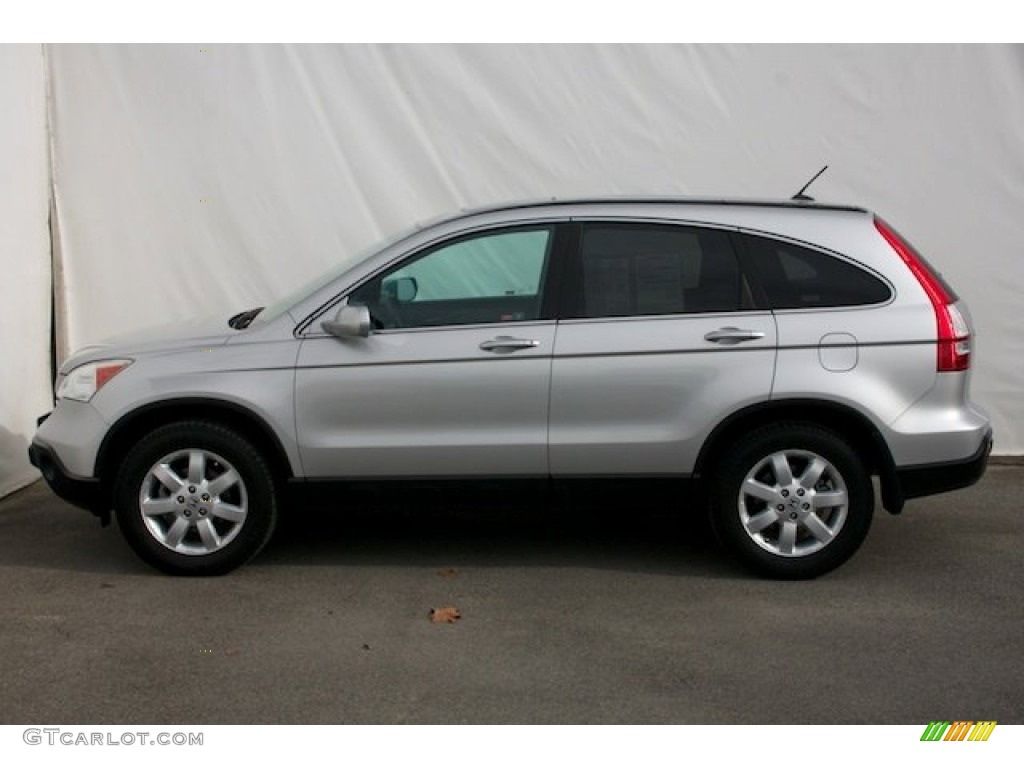 2009 CR-V EX-L - Alabaster Silver Metallic / Gray photo #9
