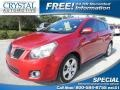 Red Hot Metallic 2010 Pontiac Vibe 2.4L