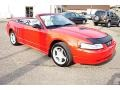 2000 Performance Red Ford Mustang GT Convertible  photo #43
