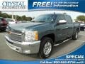 2012 Blue Granite Metallic Chevrolet Silverado 1500 LT Crew Cab  photo #1