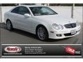 Arctic White 2009 Mercedes-Benz CLK 350 Coupe