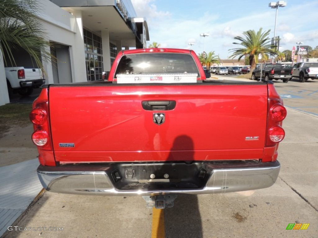 2009 Ram 3500 SLT Regular Cab Dually - Inferno Red Crystal Pearl / Medium Slate Gray photo #3