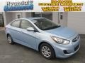 Clearwater Blue 2013 Hyundai Accent GLS 4 Door