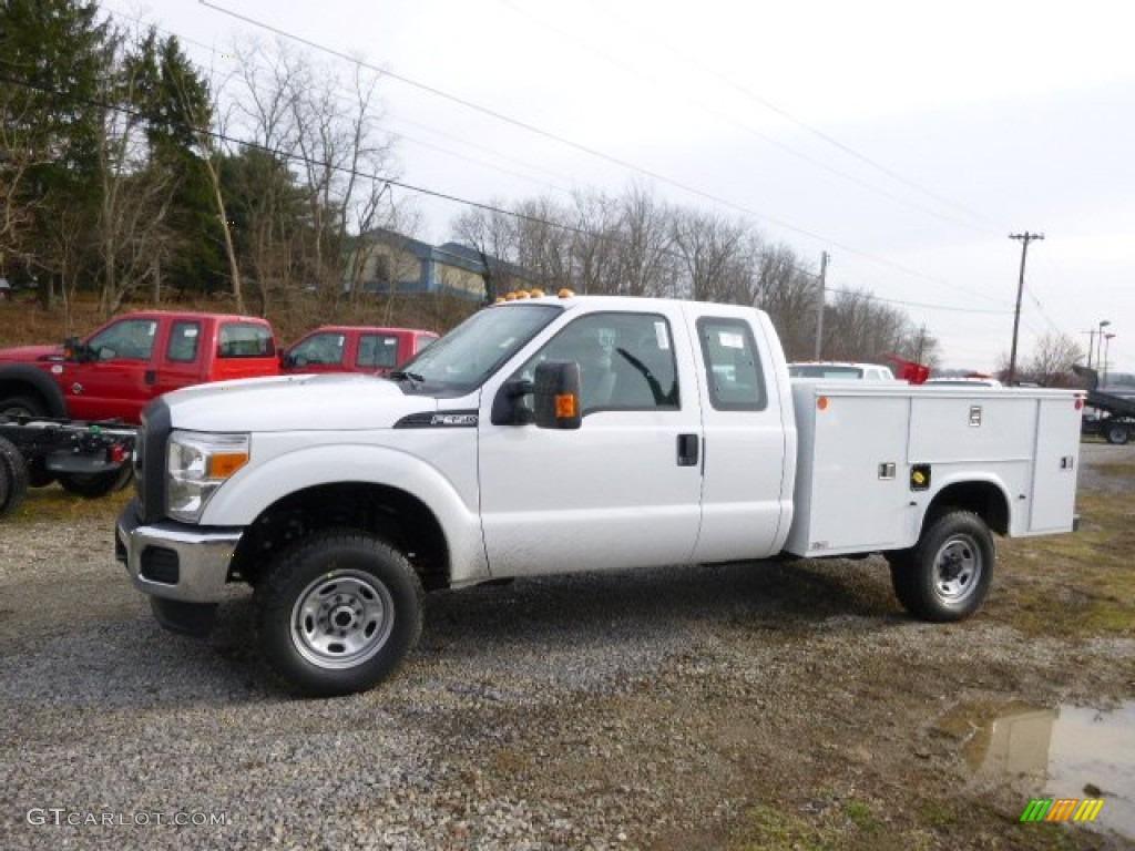 2014 f250 super duty xl supercab 4x4 utility truck oxford white steel photo