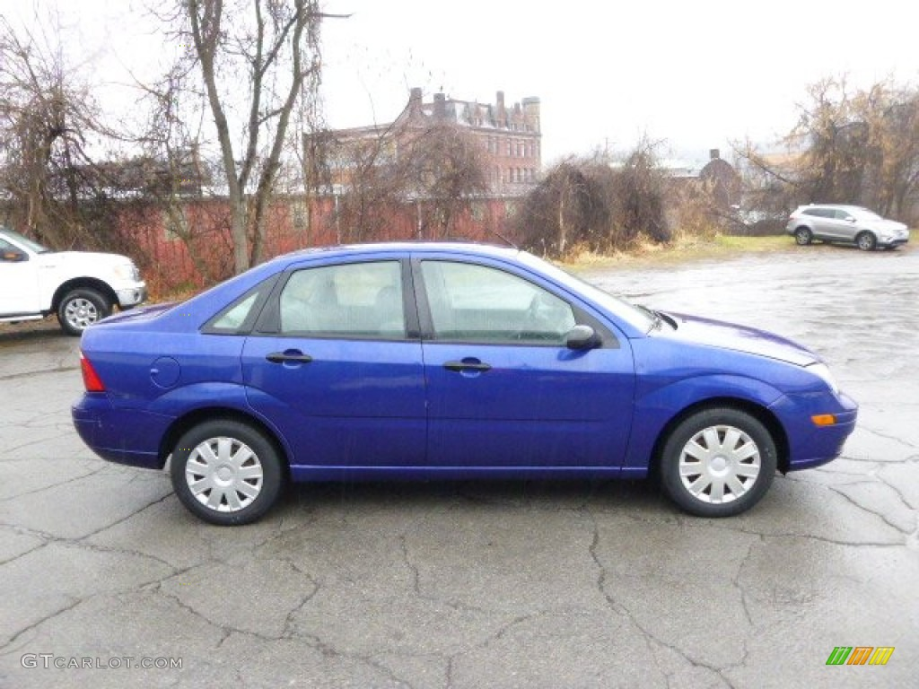 2005 Focus ZX4 S Sedan - Sonic Blue Metallic / Dark Flint/Light Flint photo #1