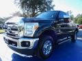 2012 Tuxedo Black Metallic Ford F250 Super Duty XLT SuperCab 4x4  photo #1