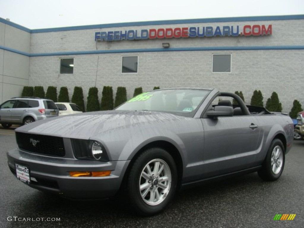 2007 Mustang V6 Premium Convertible - Tungsten Grey Metallic / Dark Charcoal photo #1