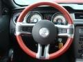 2010 Ford Mustang Brick Red Interior Steering Wheel Photo