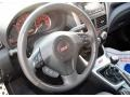2011 Subaru Impreza STI  Black/Alcantara Interior Steering Wheel Photo