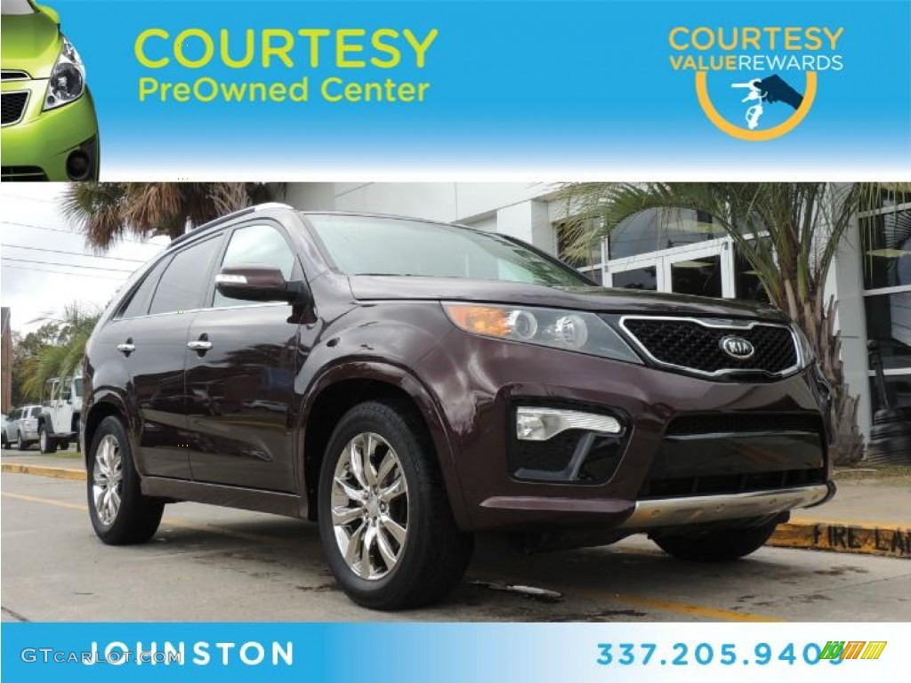 2011 Sorento SX V6 - Dark Cherry / Black photo #1