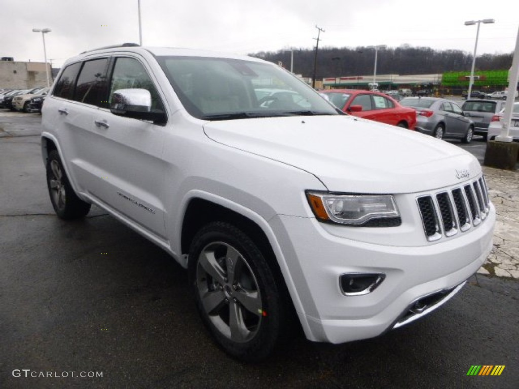 bright white 2014 jeep grand cherokee overland 4x4 exterior photo 88578289. Black Bedroom Furniture Sets. Home Design Ideas