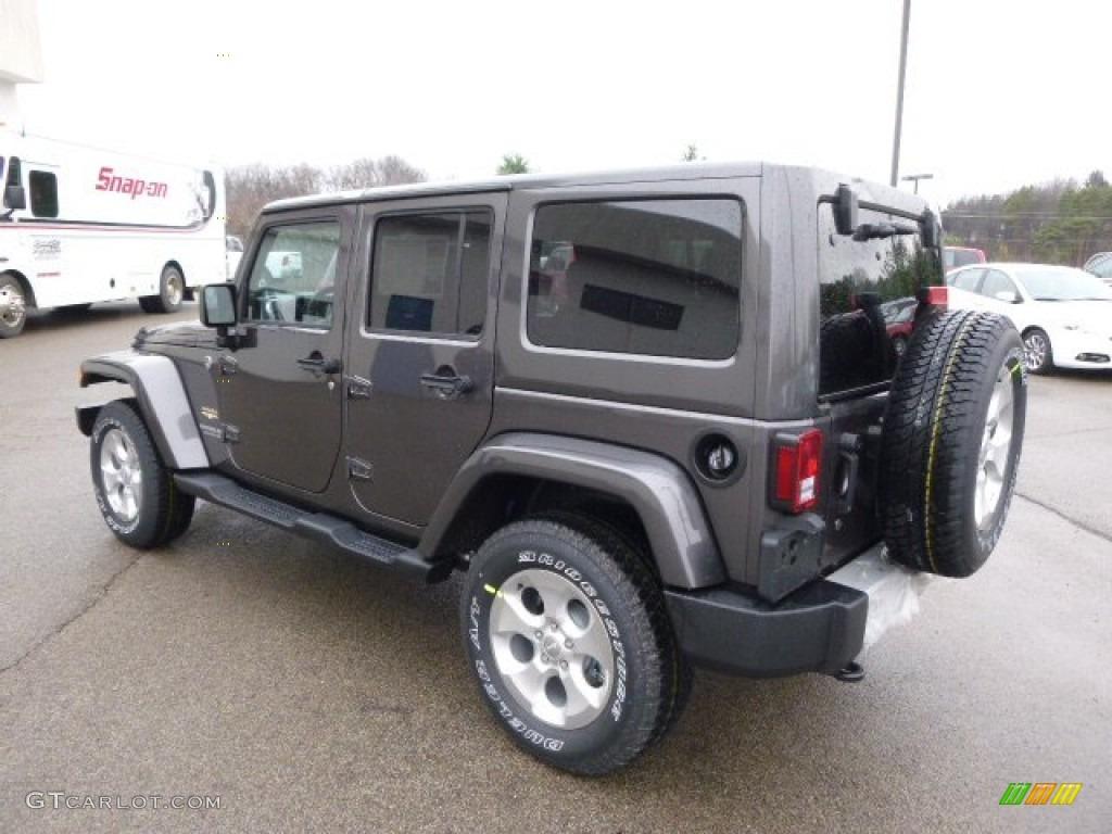2014 Granite Metallic Jeep Wrangler Unlimited Sahara 4x4 88576885 Photo 8 Car