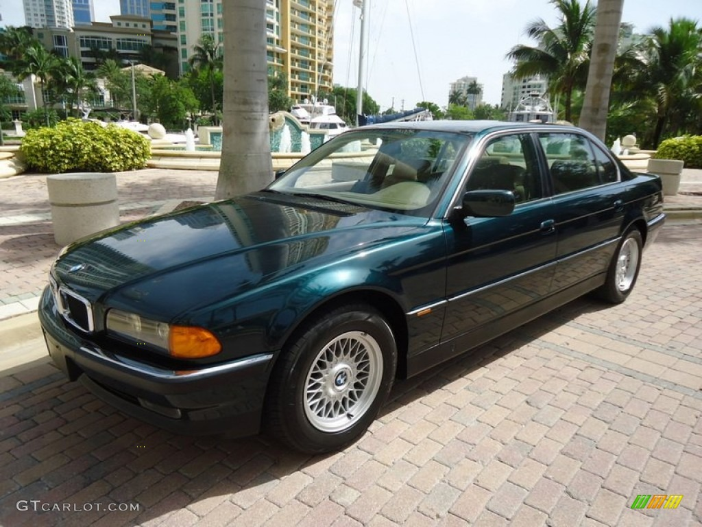 oxford green metallic 1997 bmw 7 series 740il sedan. Black Bedroom Furniture Sets. Home Design Ideas