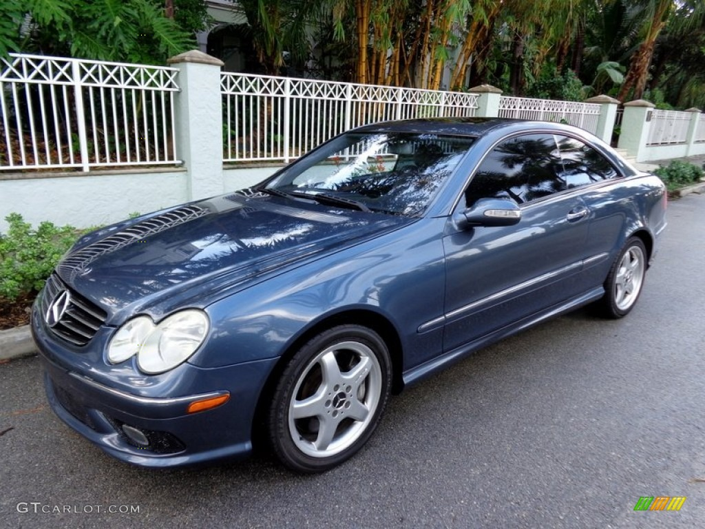 2004 cadet blue metallic mercedes benz clk 500 coupe for 2004 mercedes benz clk 500